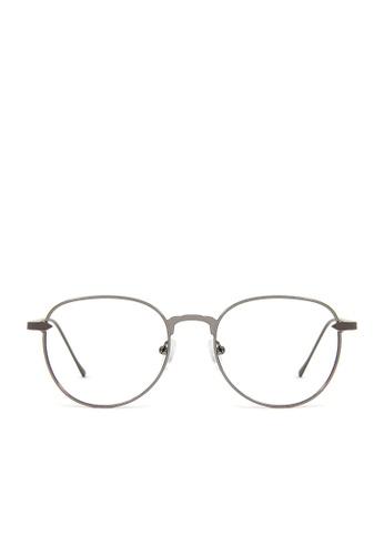 ASLLY grey ApertureTime│ Anti-blue light glasses with grey frame D8A0AGL998ED24GS_1