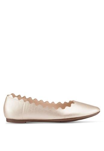 Carlton London 金色 金屬感平底鞋 9FF73SH1F5252FGS_1
