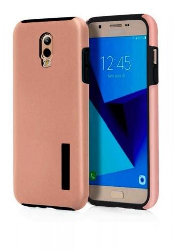 MobileHub pink Dual Pro Shockproof Case for Samsung Galaxy J7 Plus MO220AC0KDRMPH_1