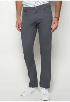 Slim Straight Non-Denim Pants