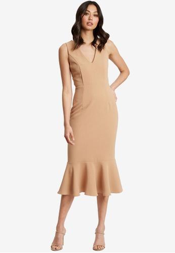 Chancery brown Leah Midi Dress A640DAAA027100GS_1
