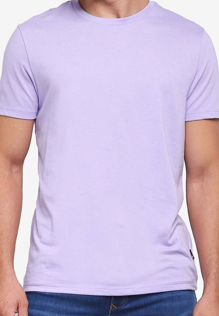 Burton Crew Neck Lilac Menswear T Purple Shirt London pI7Pwf