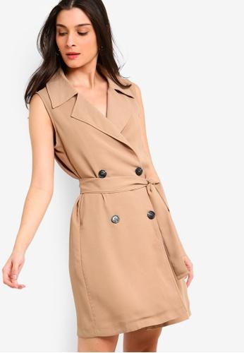 0949c8fc63af9 Shop ZALORA Sleeveless Double Breasted Dress Online on ZALORA Philippines