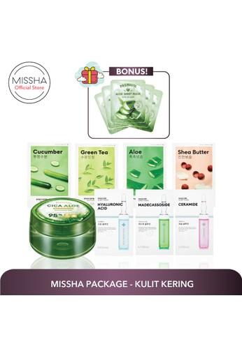 Missha Paket Kulit Kering (Cica Aloe, 4 airy mask, 3 mascure, Bonus Premium Aloe Sheet Mask) 2EF92BED562078GS_1