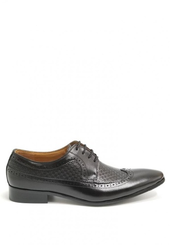 Kings Collection black Algar Leather Shoes E0B6CSHFD2FA40GS_1