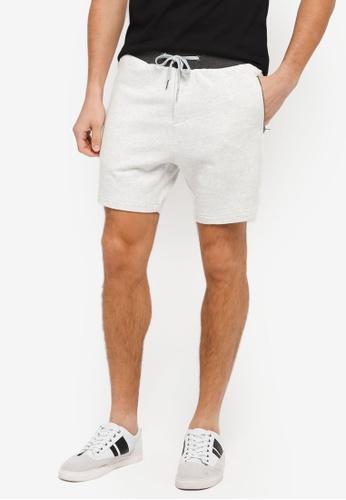 "ZALORA grey 6"" Tonal Shorts 8285EAAF00AAA4GS_1"