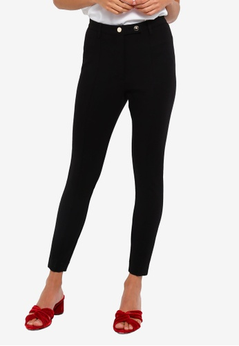 River Island black High Waisted Fitted Trousers 94350AA37684AAGS_1