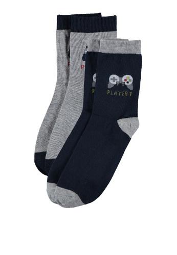 LC Waikiki grey Dad and Me Socket Socks FFF21KA456D50DGS_1