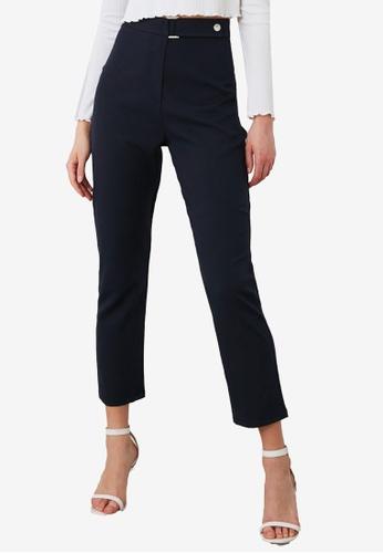 Trendyol navy High Waist Belt Detail Pants 0A95CAAC06008CGS_1