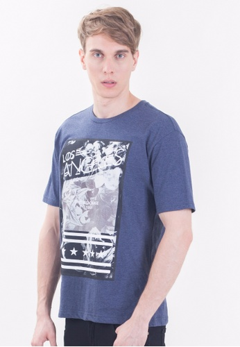 Drum Graphic Tee-BLUE DR425AA48RNZMY_1