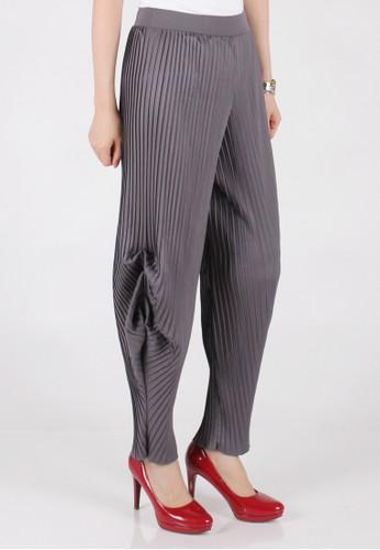Meitavi's Plisket Tulip Pants - Grey