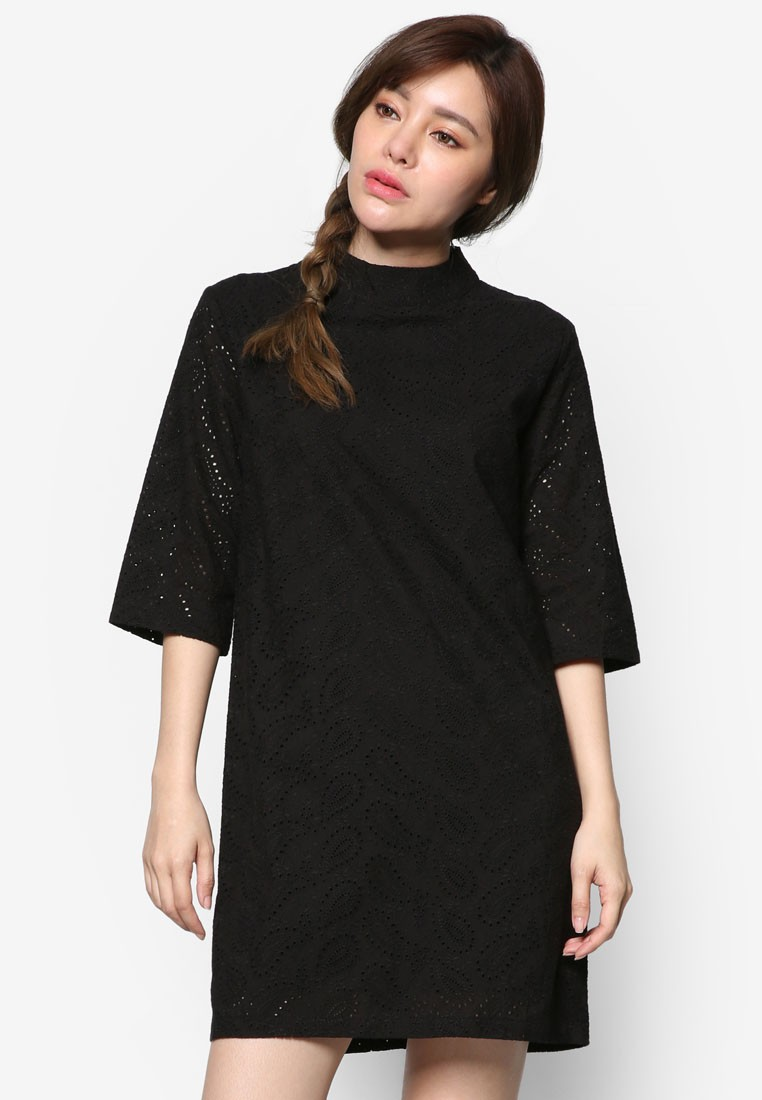 Korean Fashion Paisley Cut Dress