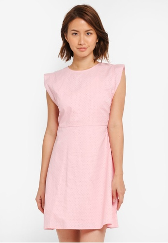 ZALORA pink Fit & Flare Dress with Side Detail D9545AA73ADFF0GS_1