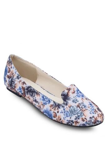 zalora 折扣碼花卉印花樂福鞋, 女鞋, 船型鞋