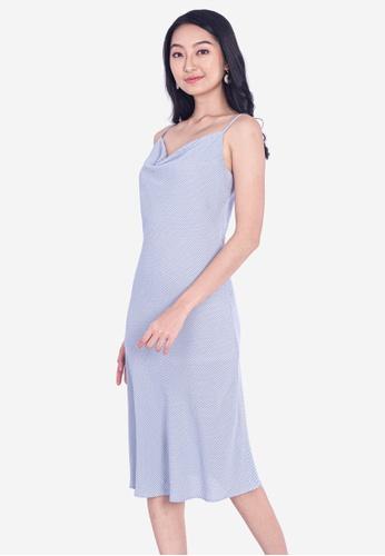Plain B. white Plain B. Single Adjustable Strap Tartan Midi Dinner Dress B56E1AABACC7E6GS_1
