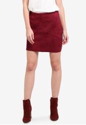 Vero Moda red Dina Short Skirt VE975AA0SA7NMY_1