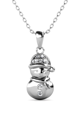 Her Jewellery silver Snow Angel Pendant -  Made with premium grade crystals from Austria E3407AC971F767GS_1
