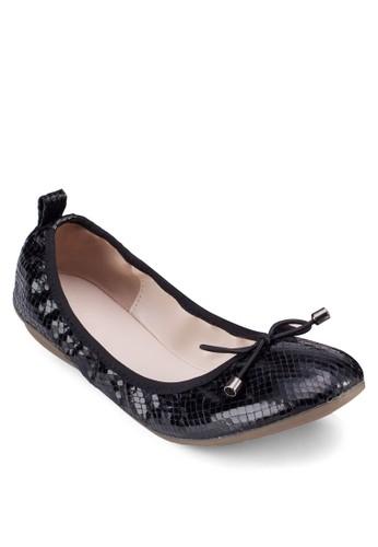 蝴蝶結亮zalora時尚購物網的koumi koumi面彈性娃娃鞋, 女鞋, 鞋