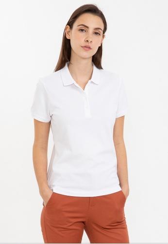 Bossini white Short Sleeve Solid Polo Shirt DB5EBAAEE366B5GS_1