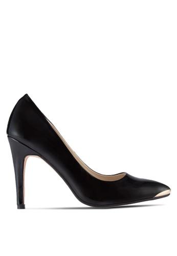 ZALORA 黑色 尖頭高跟鞋 26C1ESH703A1C0GS_1