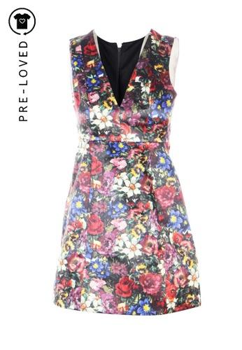 Alice + Olivia multi Pre-Loved alice + olivia Deep V Floral Dress FF2F4AA7547247GS_1
