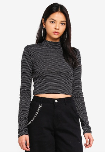 Factorie multi Long Sleeve Funnel Neck Cropped Top C919EAA76DC0EBGS_1