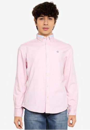 Springfield pink Pinpoint Shirt 7D310AAF6A1780GS_1