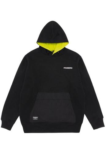 Fingercroxx black Logo badge hoodie 1FE33AAA8F3EF0GS_1