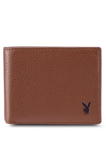 Playboy brown Faux Leather Rfid Blocking Wallet 253B5ACF945ED0GS_1