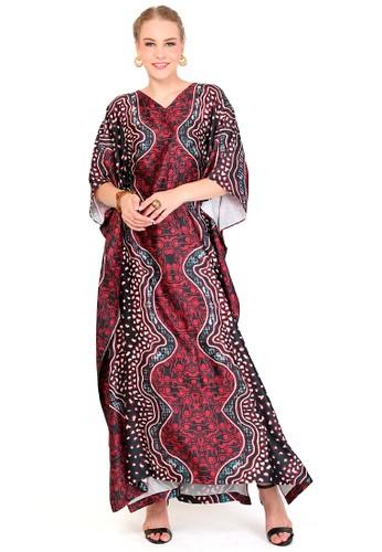 Kanzi by liza yahya red Kanzi Exclusive Short Sleeve Batik  Dark Red 9893EAA39CAF99GS_1
