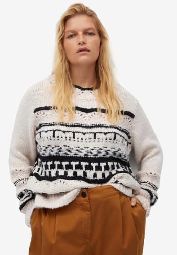 Violeta by MANGO white Plus Size Open-Knit Sweater 3E7D1AABA41C0BGS_1