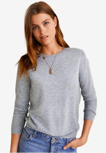 Mango grey Cashmere Sweater F7640AA69A23B9GS_1