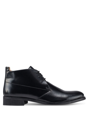 Carlton London black Lace Up Dress Shoes DC1E7SH9CE2DDCGS_1