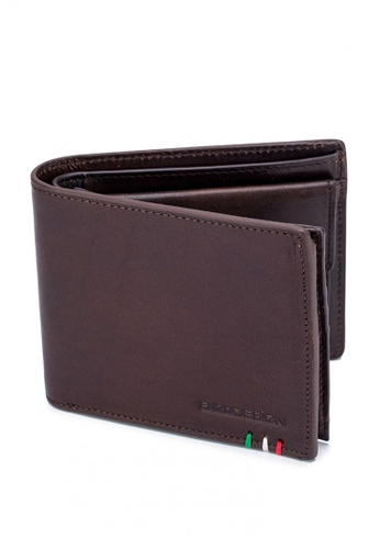 ENZODESIGN brown Italian Leather Wallet With Coin Pocket And Snap Compartment 3853EAC7405C1AGS_1