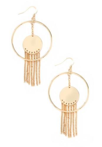 LUCCACAL Chain Fringe Drop Earrings LU294AC0S9I0MY_1