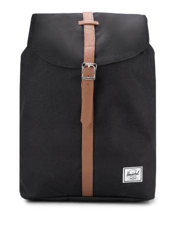 Herschel black Post Mid Volume Backpack HE114AC95KOUMY_1