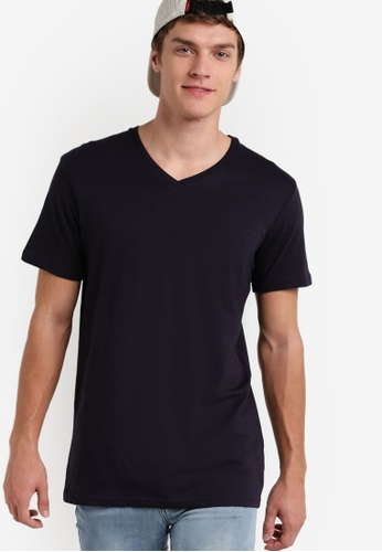Cotton On navy The Other Vee T-Shirt CO372AA99JZWMY_1
