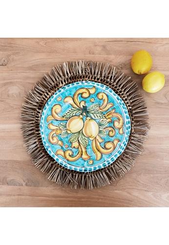 Living DNA Lemon Ceramic Deep Plate Turquoise 03768HL55A2881GS_1