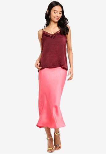 848015c6b4afc Buy TOPSHOP Satin Bias Midi Skirt Online on ZALORA Singapore