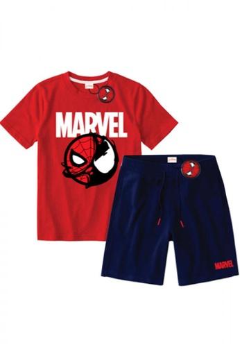 "Marvel multi Boys ""Venomized"" Graphic T-shirt and Shorts Set 54F3BKA1BFCA85GS_1"