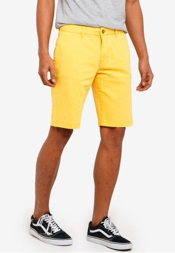 threads by the produce yellow Dobby Stretch Shorts 6E63EAA9BCB1CFGS_1
