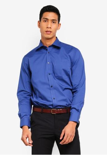 OVS blue Long Sleeves Basic Shirt F8DC4AAAFC71F5GS_1