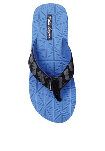Palm Lagoon blue Sandals & flip flop Criss Cross Cushion Blue CBD95SHEBE8661GS_1