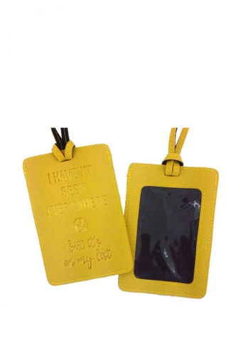 ROY & BIV yellow I Haven't Been Luggage Tag RO781AC0JPS1PH_1