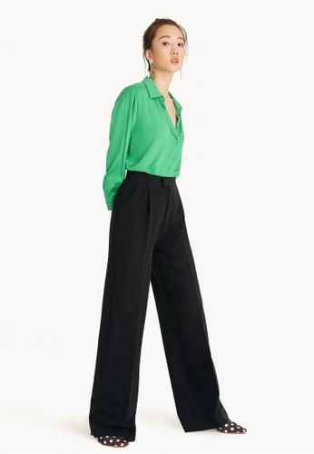 Pomelo black Single Pleated Pants - Black 0FF2AAAE5B27B6GS_1