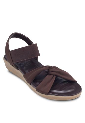 交叉彈性esprit outlet台北踝帶涼鞋, 女鞋, 鞋