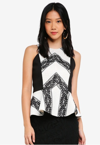 ZALORA black and white Halter Neck Top 5BE14AAB377F74GS_1