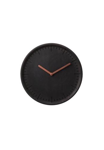 Pana Objects Meter: Wall Clock (Black Woodstained Beech) 9EA0AHLEF887B8GS_1