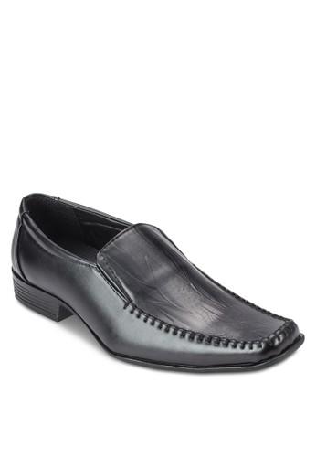 方頭暗紋esprit home 台灣商務正裝皮鞋, 鞋, 鞋