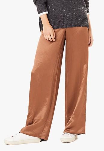 MARKS & SPENCER multi Satin Wide Leg Pyjama Trousers 3D386AAA7E5409GS_1